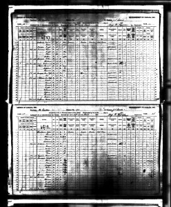 1891 Census JB Simard and Zoe Bouchard
