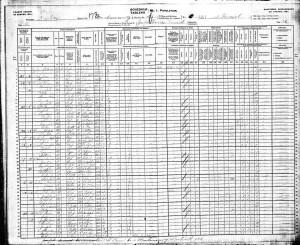 Jean Baptiste 1901 Census
