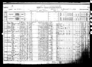 Thomas Seymour 1911 Census Image